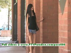Tamara amateur brunette teenage fingering pussy outdoor