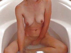 A bit of bathing, a lot of masturbating ;)