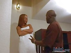 Jersey Jaxin is a cute teen rides black dick
