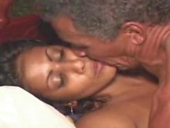 Lucky old man fuck beautiful young Indian