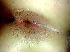 Opened ass while in bed. The day after first anal!