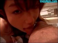 Cute Japanese Girl Toe Licking Footworship