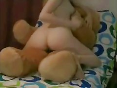 Cute Teen fucks her teddy bear
