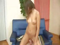Young brunette, Eugenia, gets a gaping hole from an ass fucking