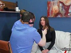 Horny teenie was taken in anal hole assylum for painful trea