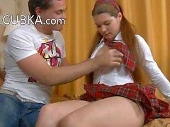 schoolgirl in shoes anal fucked