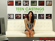Casting latina gets roughfucked while gagging