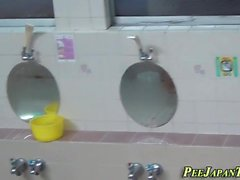 Kinky teens urinating