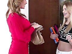 MILF licks horny lesbian teen pussy momlickspussy