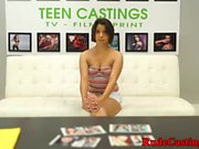 Gorgeous casting teen gets hardfucked