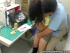 Shoplifting Asian teen gets fucked
