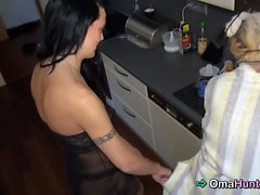 Hard working grandma gets reward sex