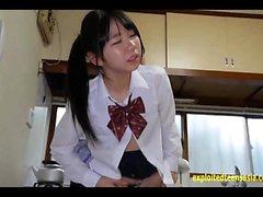 Jav Idol Teen Schoolgirl Fucked On The Kitchen Table