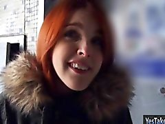 Amateur redhead Czech girl Amarna Miller nailed for money