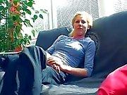 German amateur shoots porn in her living room Sascha Production
