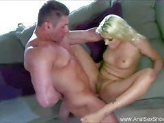Blonde babe ass fucked