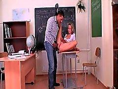 Perfect schoolgirl fucks her teacher