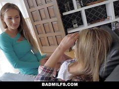 BadMILFS - Horny Teen Gets First Lesbo Experience