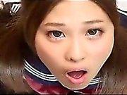 Schoolgirl On Her Knees For Cum - Japanese
