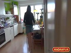 German Teen Paying for her lift