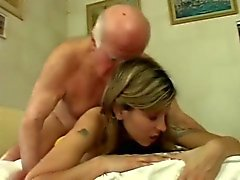 Teen girl show respect for Old Man 8