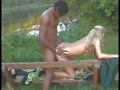 Young German Wife Cucold with BBC on Bench (Camaster)