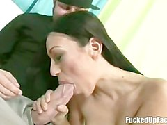 Tight Teen Takes Two Monster Cocks