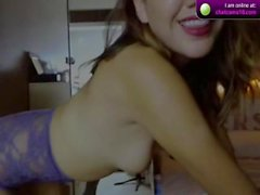 Mirah shows her tits on cam