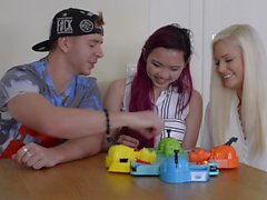 Pornstars Play Games: Hungry Hippos