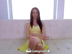 CASTINGCOUCH-X Skinny teen Lana Adams first audition for porn