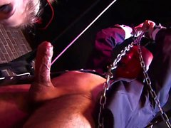 Slave is used as a fuck toy from twi horny girls