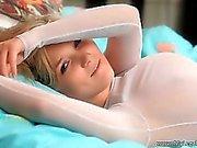 Hot blonde teen babe fingering her wet part5