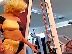 Lesbians Orgy in Gym