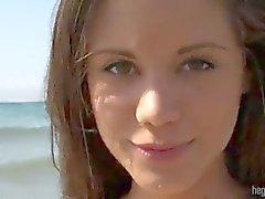 Caprice on a nude beach