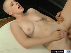 Riley's tight pussy is pumped full of cum for a job