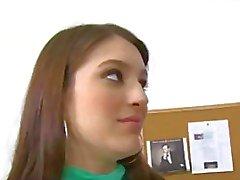 Sexy brunette Small tits schoolgirl teen Zarena Summers fucks pro