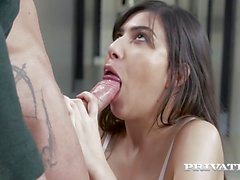private Naughty brunette loses her anal virginity