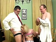 Demure babe gets her lovely love tunnel ravished by teacher