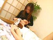 Jap teen breastfeeding milk boobs