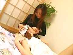 Jap teen breastfeeding milk boobs