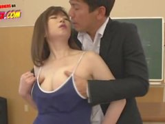 Hot Chubby Asian Knows How to Pass the Exam by Fucking Her Teacher in Class