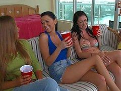 Four lesbians having fun