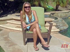 Natalia Starr gets interviewed before stripping