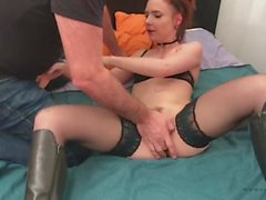 45 - Hard anal moment with the thief and the husband with Cathy Crown