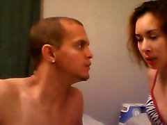 Sensual hottie poses for the camera and works a stiff pytho