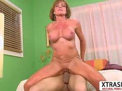 Horny Step Mom Riley Wayne Gives Titjob Hard Teen Stepson