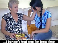 Young girl meets grandma and gets seduced