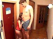 Sexy brunette teen Masha gives amazing