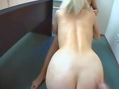 Blonde Euro cougar gets fucking and facial