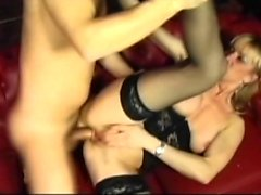 Hottie In Hot Stockings and Lingerie Anal Fucked
